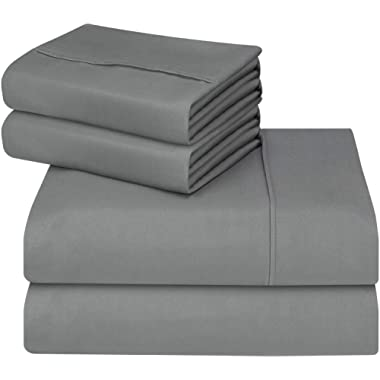 Utopia Bedding 4-Piece Queen Bed Sheets Set (Grey)