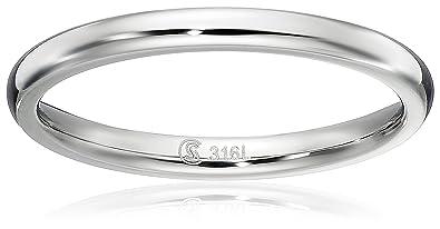 Amazoncom Surgical Steel Plain Wedding Band Thumb Ring Toe Ring