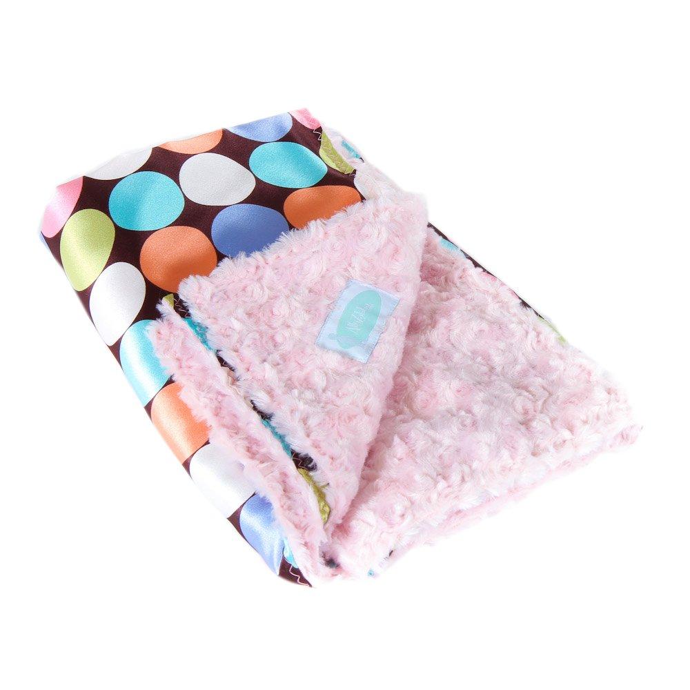 Allyzabba Choco-dot Candy Small Baby Blanket 16x14 by AllyZabba   B00NJTM3OA