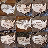 Cheap Road Trip Ornament to celebrate your travels! Vacation Family fun Personalized USA shape Holidays Christmas Traveling Journey