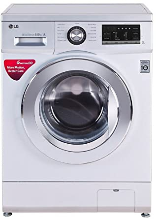 Lg 8 Kg Fully Automatic Front Loading Washing Machine Fh4g6tdnl42 Silver Amazon In Home Kitchen