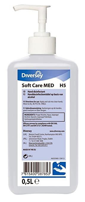 Diversey Soft Care Med H5 Alcohol Hand Rub With Convenient Pump