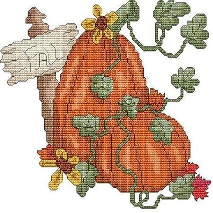 Fall Pumpkin Cross Stitch Pattern