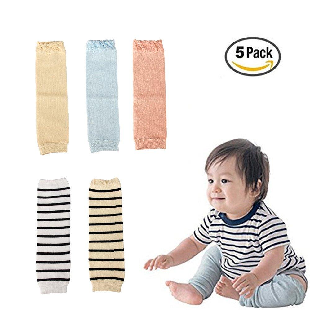 icekon Baby Knee Socks Toddler Knee Socks Leg Warmers Baby knee Pads 0-36 Months NKMK7982BKS-J