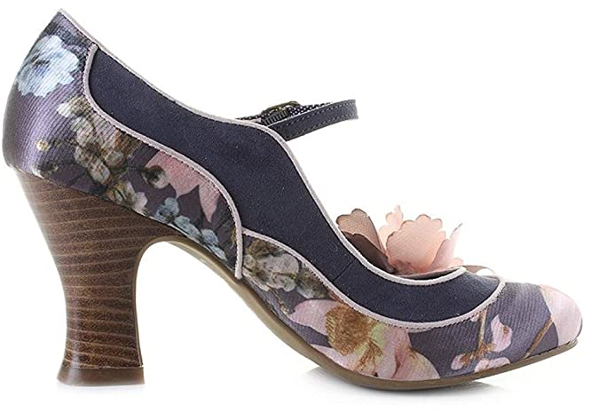 Mary Amazon Floral Jane Womens Madelaine Shoes es Ruby Shoo Slate CaFqHn4S