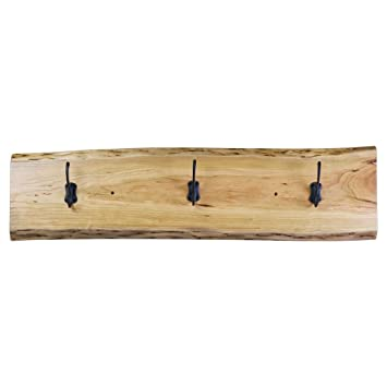 Amazon.com: Recuperado Live Edge Decor perchero de pared de ...
