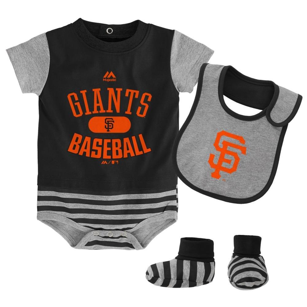 Outerstuff サンフランシスコジャイアンツ マジェスティック 新生児 野球 プロパティ クリーパー ビブ ブーティーセット 12 Months  B01C3OPB9U