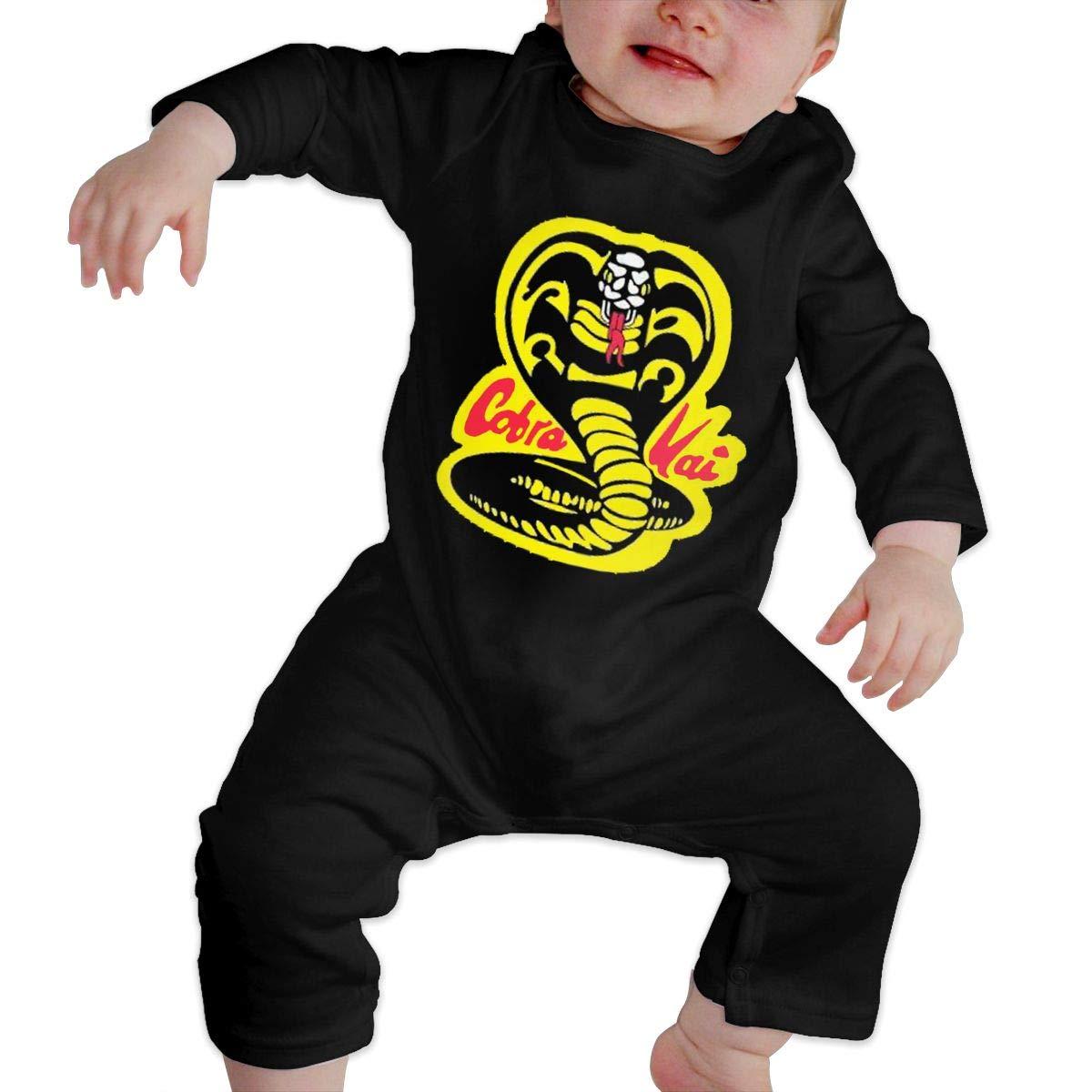 Fional Infant Long Sleeve Romper Cobra-Kai-Denim-Dad Newborn Babys 0-24M Organic Cotton Jumpsuit Outfit