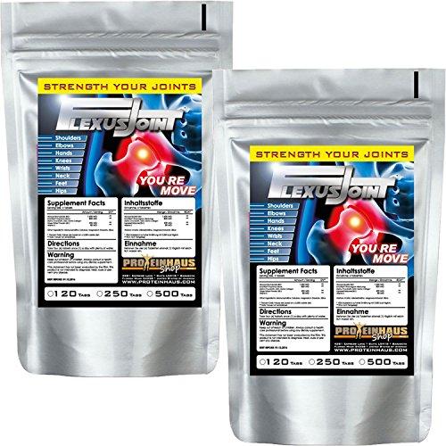 Gelenktabletten FlexusJoint 250 Tabletten hochdosiert mit Chondroitin MSM Collagen Glucosamin Ginger Extract Formel für Gelenke Knorpel