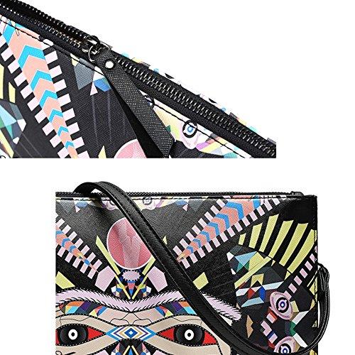 Embrague De Y Contraste Cuero Hombro Bolsos Hombres Bao Mujeres Moda Para B1fw5q