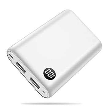 Trswyop Batería Externa 13800mAh Power Bank [Pantalla Digital] Cargador Portátil Móvil con 2 Puertos Salidas USB Alta Velocidad para Smartphones ...