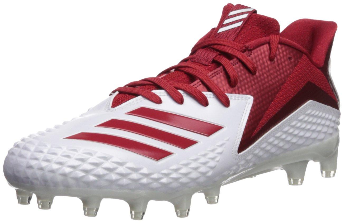 adidas Men's Freak X Carbon Mid Football Shoe, White/Power Red/White, 7 M US