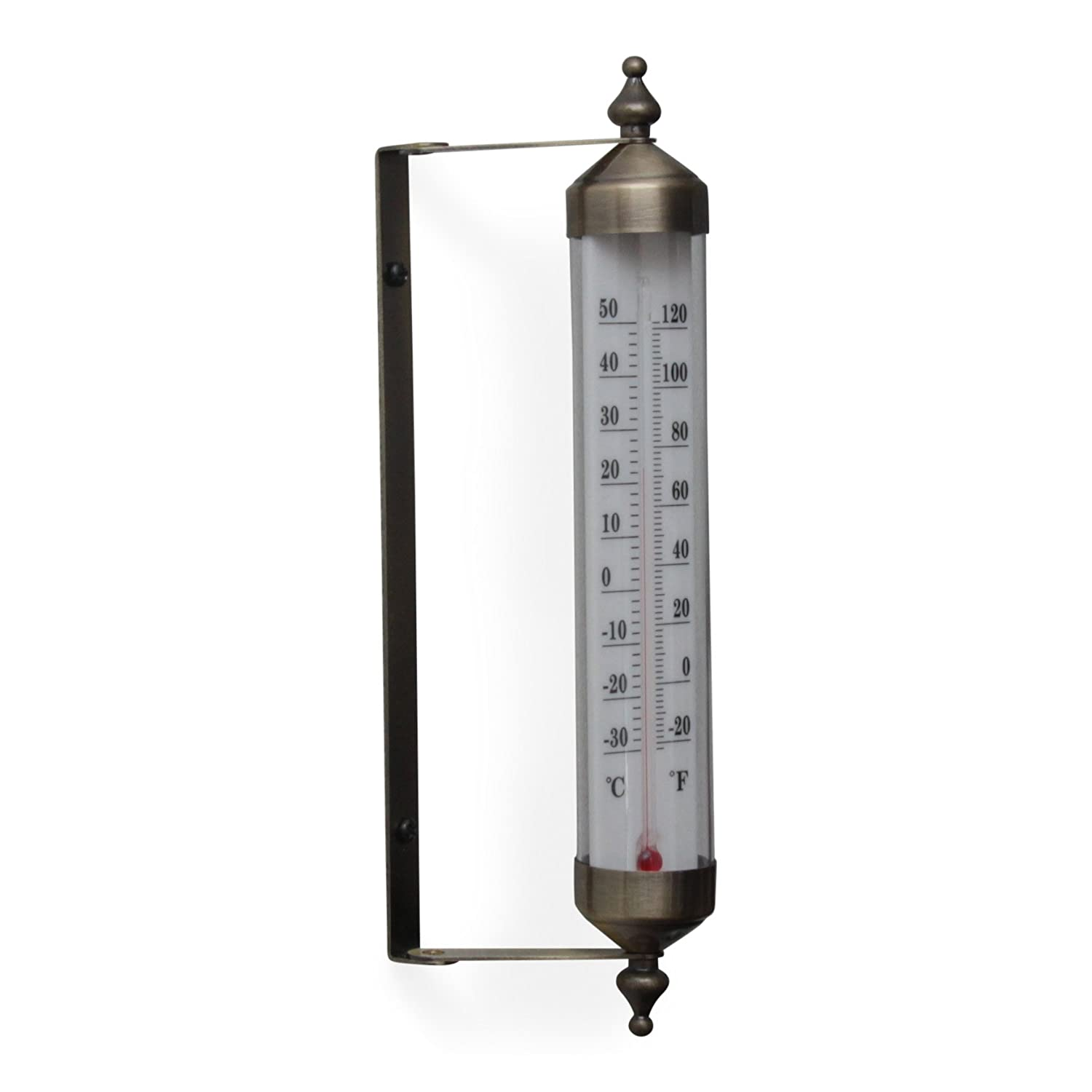 Adjustable Angle 10 Inch Garden Thermometer (Bronze) Bjerg Instruments