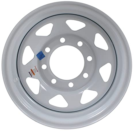 Terrific Ecustomrim Equipment Trailer Rim Wheel 16 In 16X6 8 Hole Bolt Lug White Spoke Rim Only Wiring 101 Akebretraxxcnl