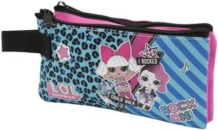 Estuche de Lol Surprise bolsita Rock con 2 cremalleras cartera escolar: Amazon.es: Oficina y papelería