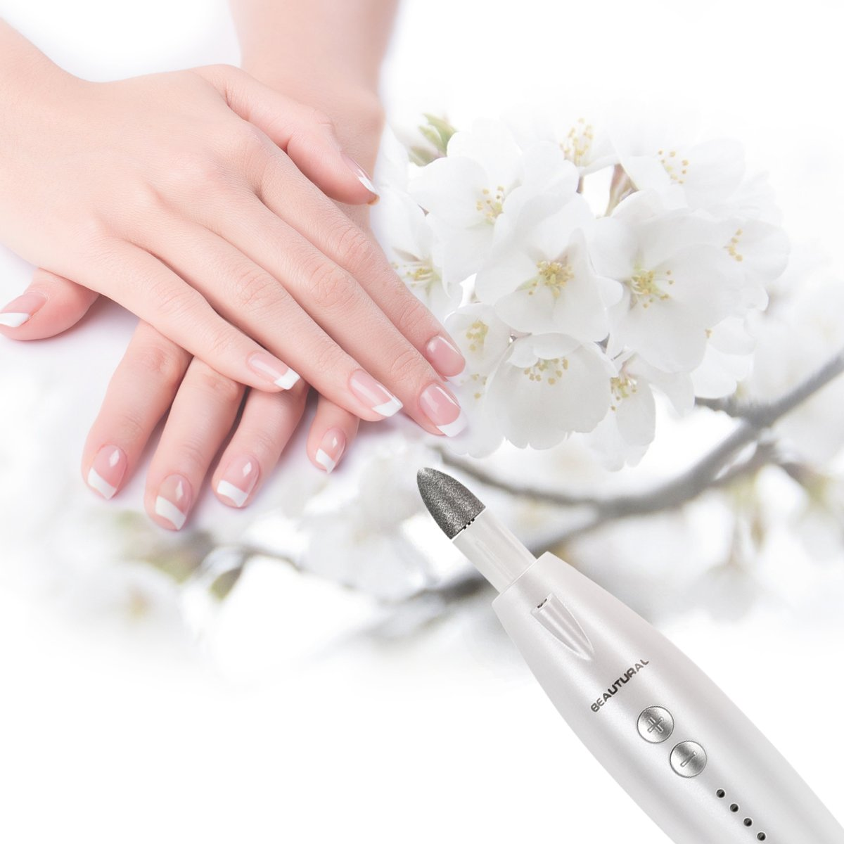 Beautural Professional Electric Manicure & Pedicure Kit - Powerful Nail Drill and 7 Attachment Nail Polishing System for Finger and Toe Nail Care by Beautural (Image #5)