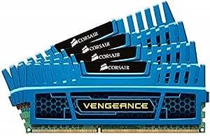 Corsair CMZ16GX3M4A1600C9B Vengeance Blue 16 GB DDR3 SDRAM Dual Channel Memory Kit 1.5V