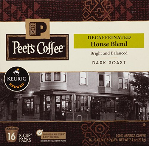 Peets Coffee & Tea Single Cup Coffee, Decaf House Blend, 16 Count (Keurig Decaf House Blend compare prices)