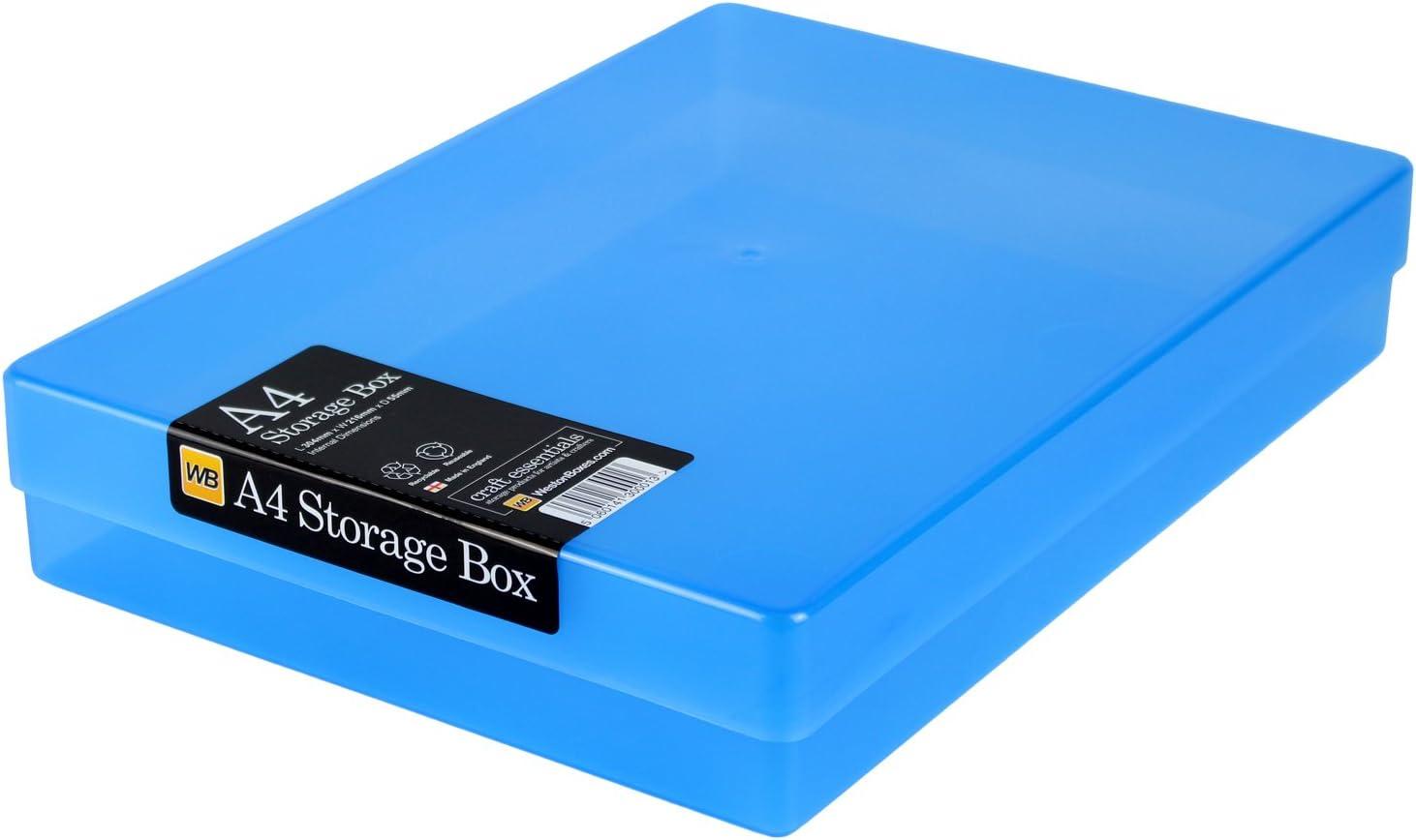 WestonBoxes - Caja de Almacenamiento A4 para papel A4 y Manualidades (Azul, Paquete de 40): Amazon.es: Hogar