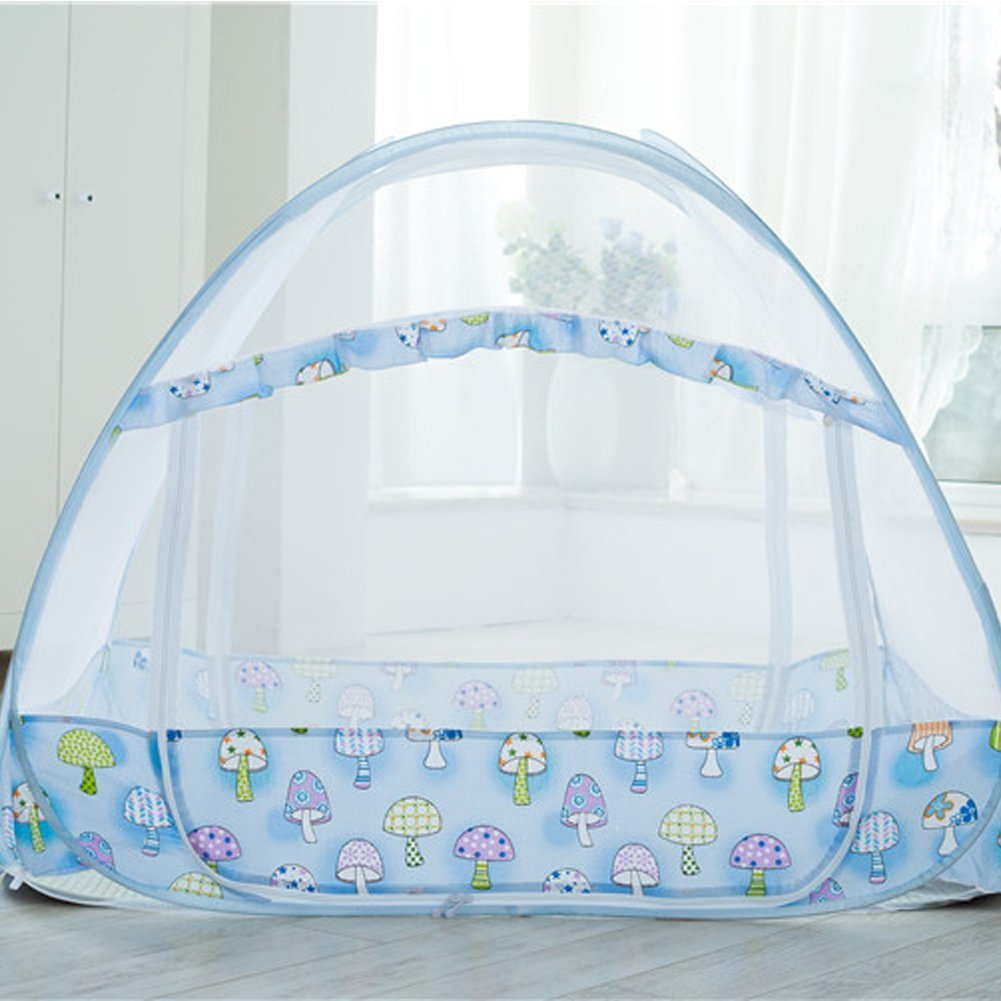 AUMEY Zippered Baby Mosquito Net Foldable Baby Bed Kids Tent Nursery Crib Canopy Netting Folding Cot Mosquito Net (592935inch) by AUMEY (Image #2)