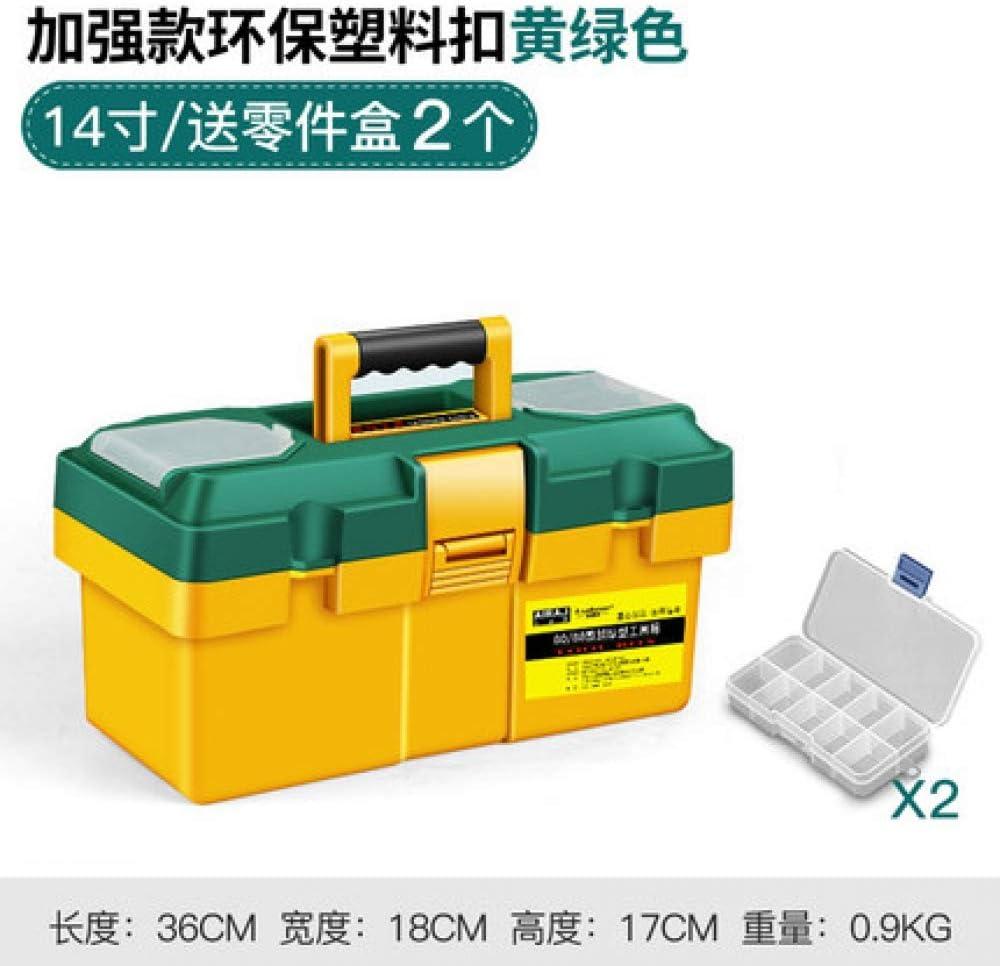 ML Caja de Herramientas portátil de plástico Grande Hardware Caja de Electricista Inicio multifunción Herramienta de reparación Caja de Almacenamiento del Coche Caja-2: Amazon.es: Hogar