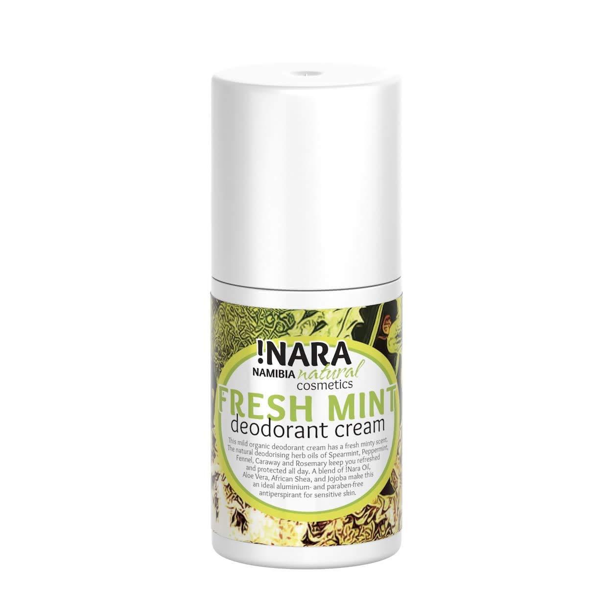 !Nara Bio Naturkosmetik Deo Creme mit Minze 50 ml mildes Unisex Deodorant aus Pflanzen- und Kräuterölen für sehr empfindliche Haut ohne Aluminium und ohne Alkohol - auch für Jugendliche