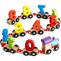 Classic Shoppe Wooden Train Educational Model Vehicle Toys Vehicle Pattern 0 to 9 Number, Educational Learning Toys