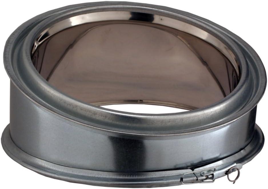 Conduit poujoulat interieur inox//galva element de coude 15/° dn 230