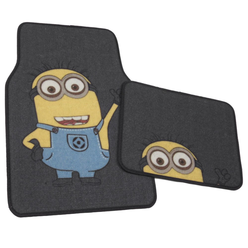 Rubber floor mats perth - Amazon Com Despicable Me Minions Car Floor Mats 4 Pc Auto Floor Mats Front Rear Full Set Universal Fit Wb Official Products Automotive
