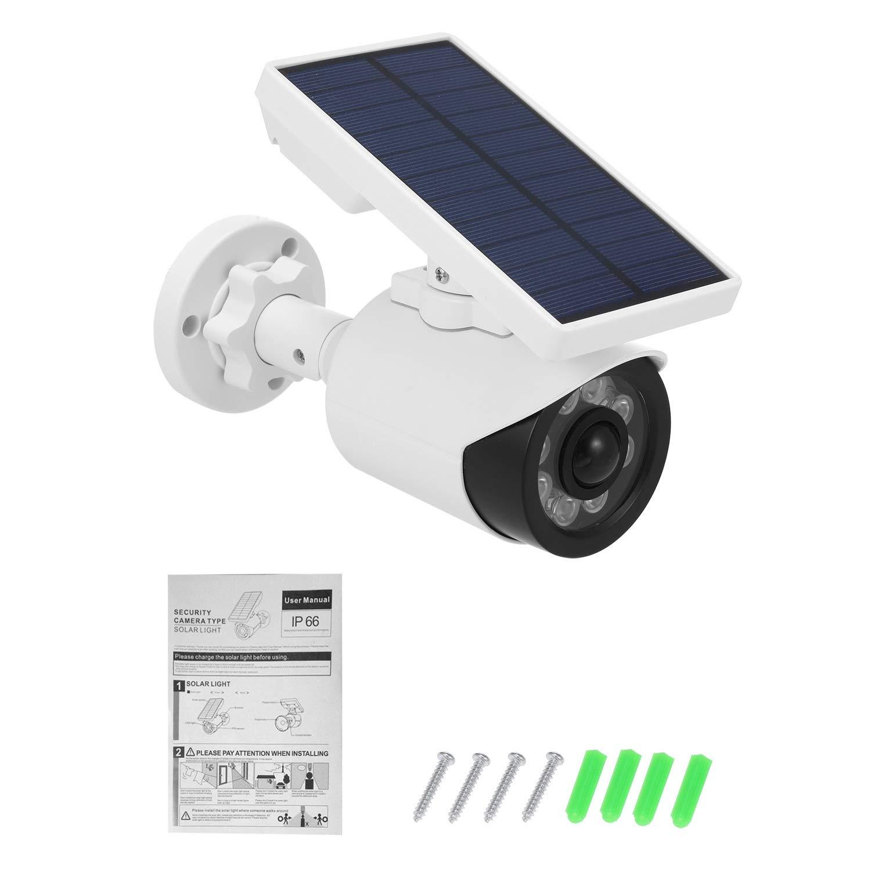 LBBZJM Dummy CCTV Camera Dummy Camera with PIR Motion Sensor Solar LED Light Dummy Security Camera IP66 Waterproof Outdoor CCTV Fake Surveillance Simulation Camera (Color : 1pcs) by LBBZJM