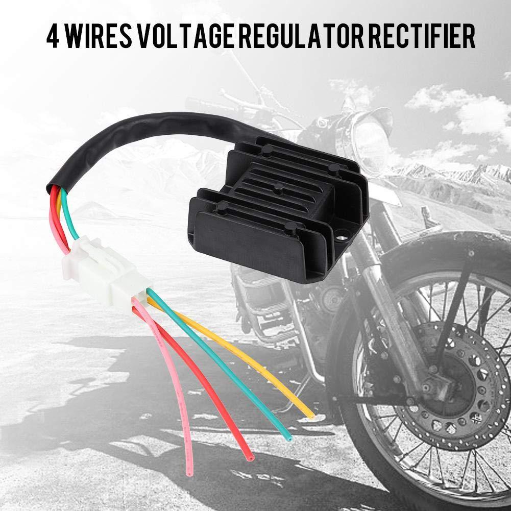 12V 4 Wires Aluminum Motorbike Regulator Rectifier for Motorcycle Boat Motor ATV GY6 50 150cc Scooter Voltage Regulator Rectifier
