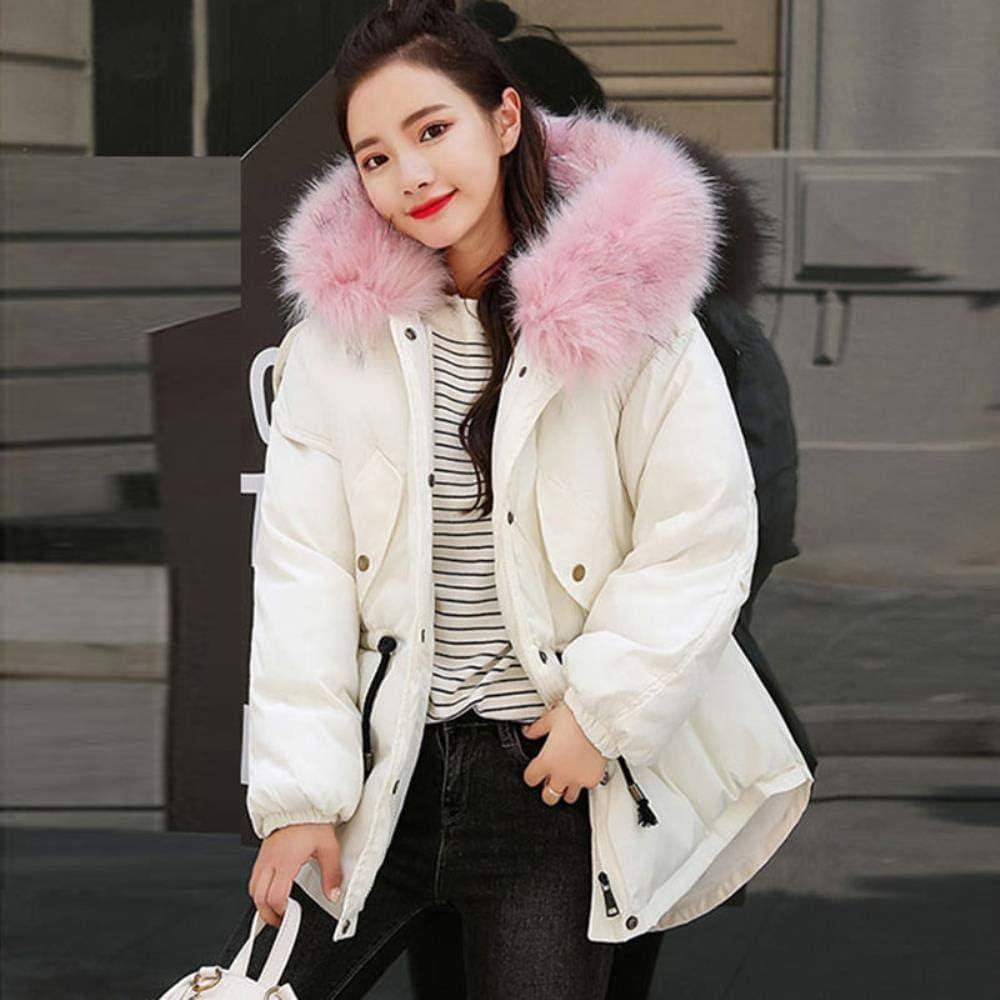 XYUANG Cappotto Termico Corto da Donna Invernale Parka Caldo White