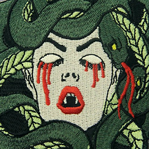 Review The Bleeding Medusa Embroidered