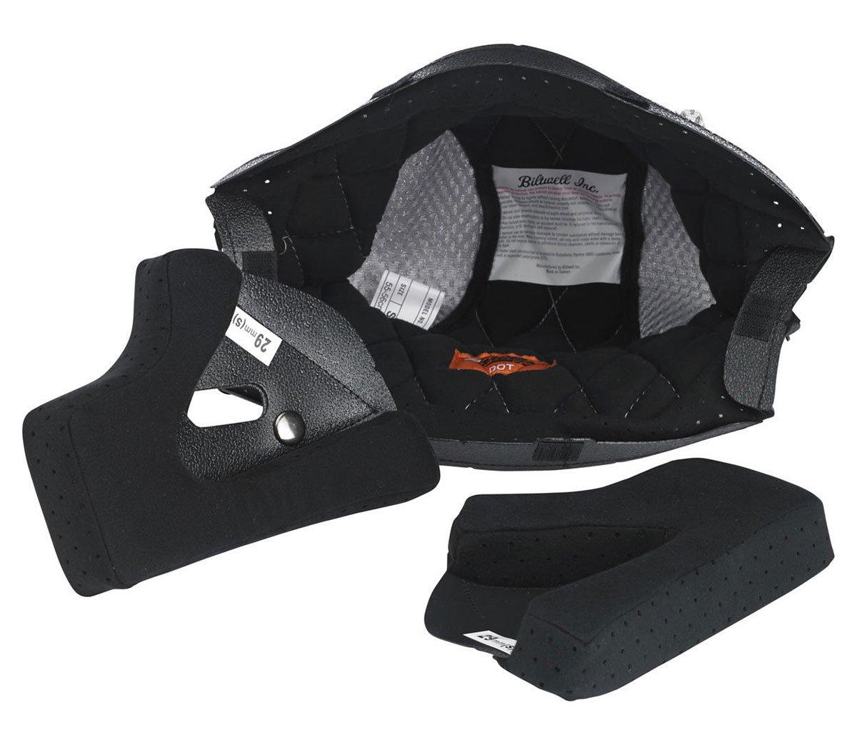 Biltwell - Gringo / Gringo S Helmet Liner - Black / Silver - Medium