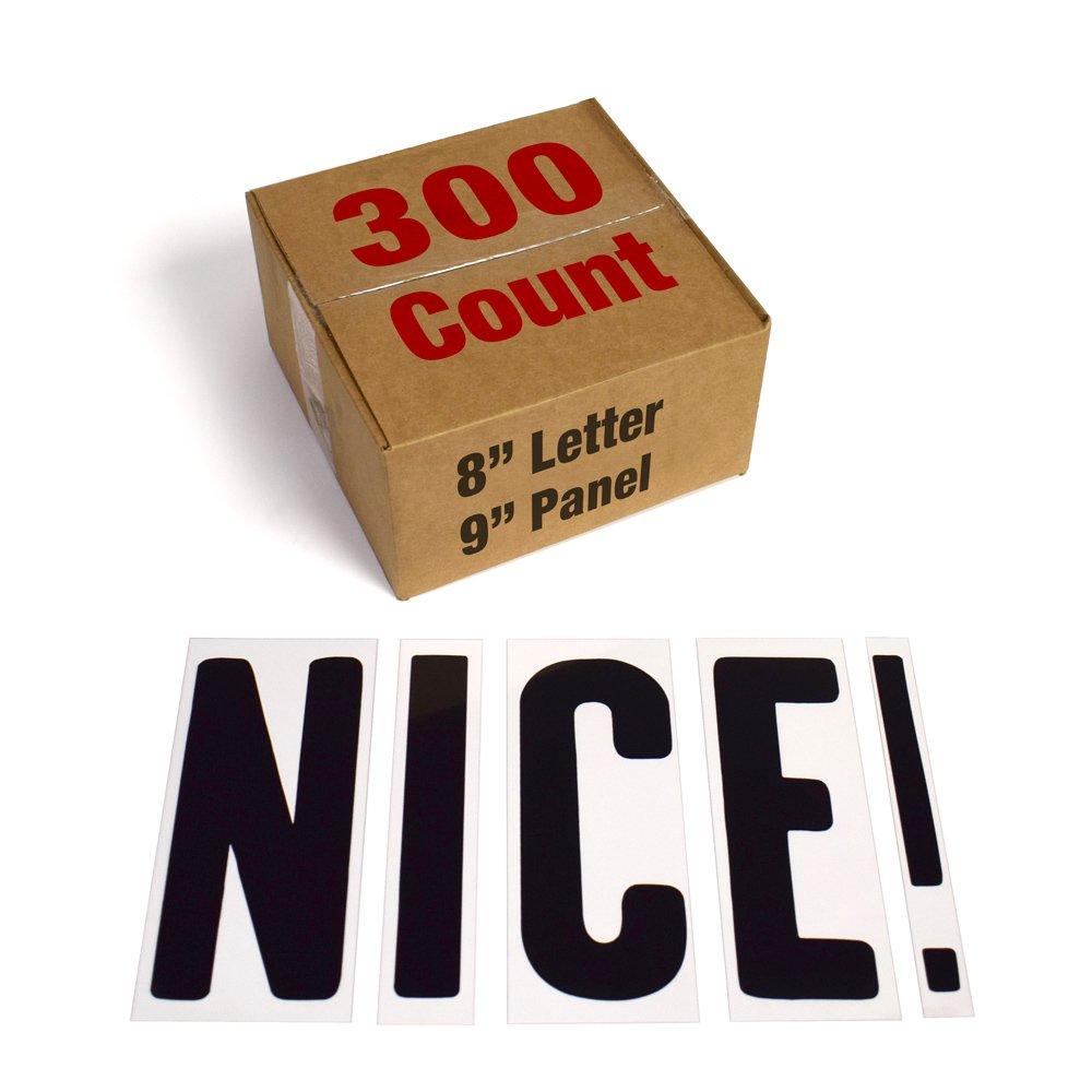 "Changeable Outdoor Sign Letters 8"" Portable Flex Letters 300 Count Helvetica Font 8"" Panel"