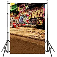 Mohoo 5X7FT Graffiti Wall Photography Backdrops Photo Props Studio Background Silk1.5x2.1m