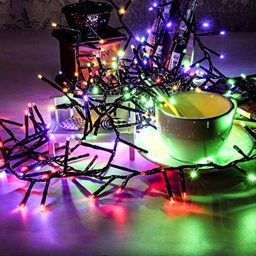 Magiclux Tech Luces solares de 300 LED, iluminación de hadas para exteriores a prueba de agua para Navidad, hogar, decora - Multicolor, 38 pies, modo 8 en 1 (300 luces de color solar): Amazon.es: Hogar