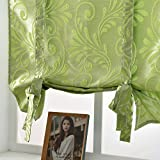 NAPEARL Jacquard Tie Up Balloon Curtain 1 Panel for