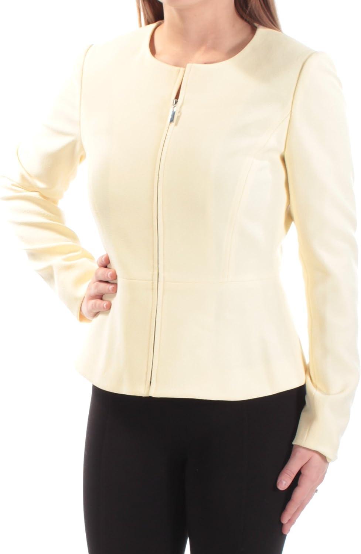 Levine Womens Petite Size Pebble Crepe Zip Front Peplum Skirt Suit Tahari by Arthur S