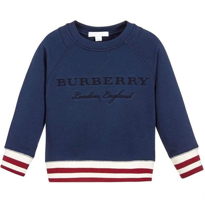 Abbigliamento E Ricamo 6 it Righe Amazon Felpa Con Blu Burberry OgqtzxwE