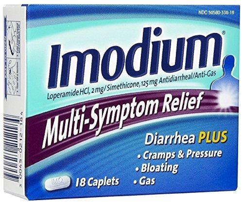Imodium Multi-Symptom Relief, Caplets 18 caplets (Pack of 2) by McNeil Consumer Healthcare/McNeil - PPC, Inc.