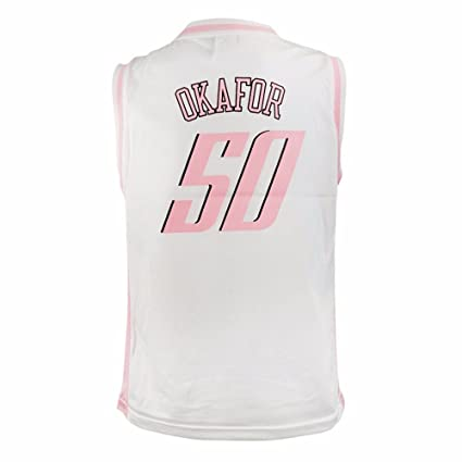 cfcbf98f adidas Emeka Okafor Charlotte Bobcats NBA White Official Fan Fashion  Basketball Jersey for Girls (S