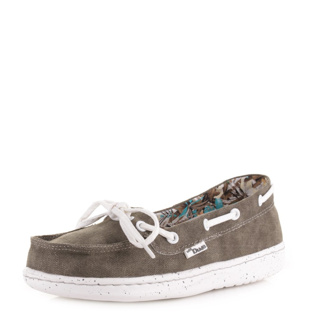 Dude Schuhe Dude Moka Classic Tan Leinwand Deck Schuh