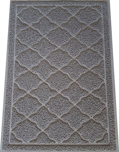 Feeder Cat Wood - KW Pets Non-Toxic Cat Litter Mat, Extra Large (35x23-Inch), Light Gray