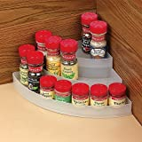 VERSATILE 3-TIER CORNER SHELF - PERFECT FOR SPICES, CONDIMENTS, MIXES AND MEDICINES!