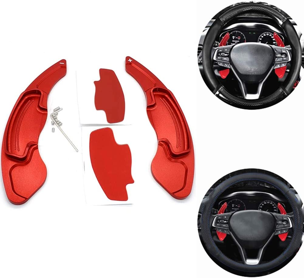 Red CKE Aluminum Steering Wheel Paddle Shifter Extension For Honda Civic Accord CR-V UR-V Odyssey Spirior Acura CDX TLX