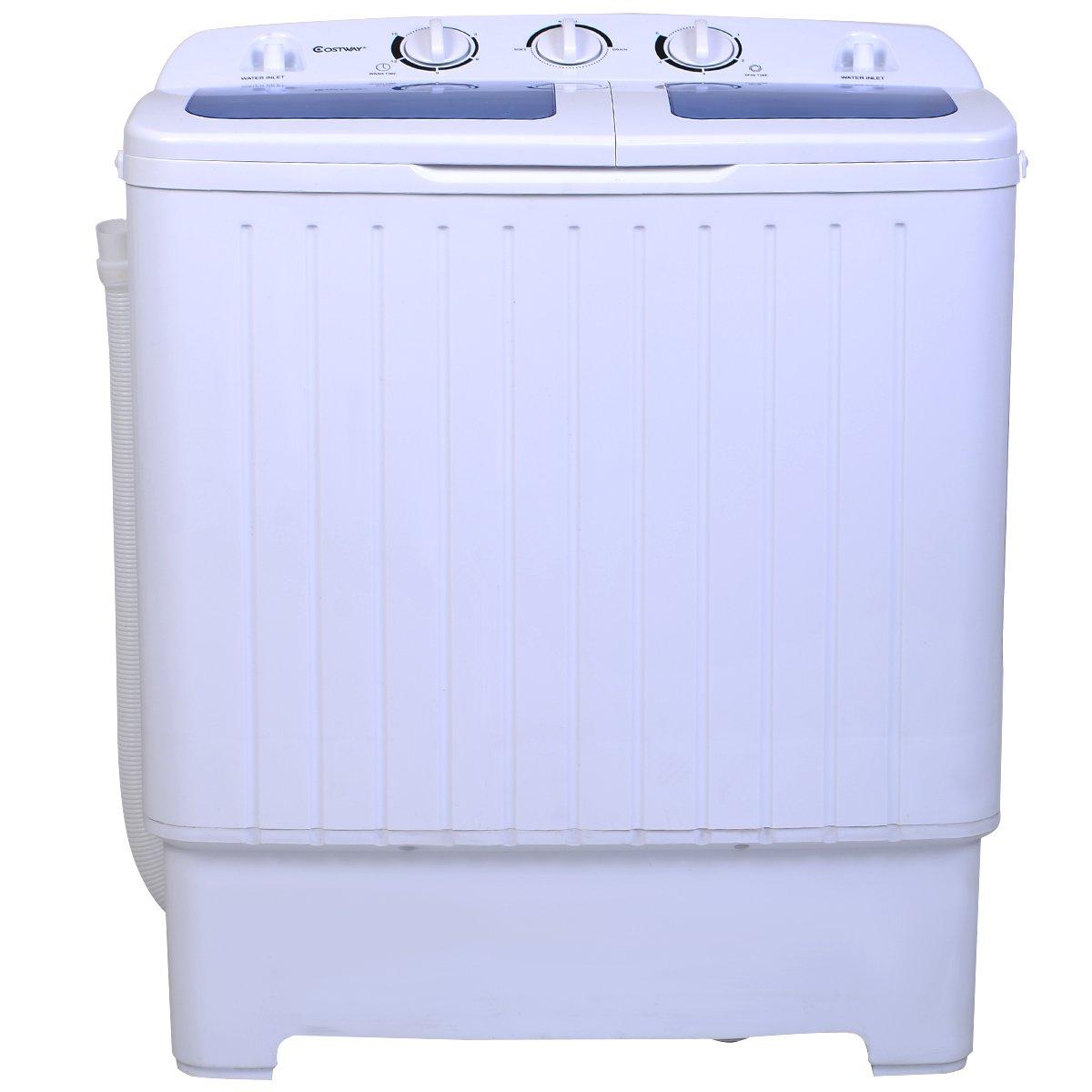 giantex portable mini compact twin tub washing machine washer spin cycle amazon. Black Bedroom Furniture Sets. Home Design Ideas