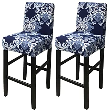 Surprising Deisy Dee Stretch Slipcovers Chair Cover For Counter Height Side Chairs Covers Stretch Protectors Pack Of 2 C172 Rr Gmtry Best Dining Table And Chair Ideas Images Gmtryco