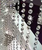 V-look 10.5 Feet Clear K9 Crystal Chandelier Prism Lamp Octagon Bead Chain christmas Wedding Pendant