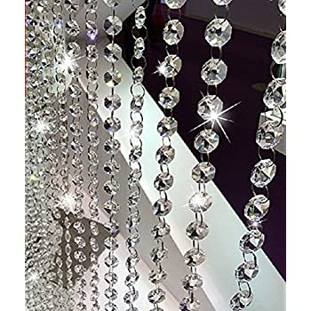 Amazoncom Feet Clear K Crystal Chandelier Prism Lamp - Octagon chandelier crystals